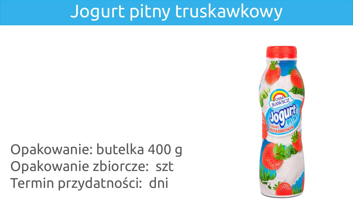 Jogurt pitny truskawkowy