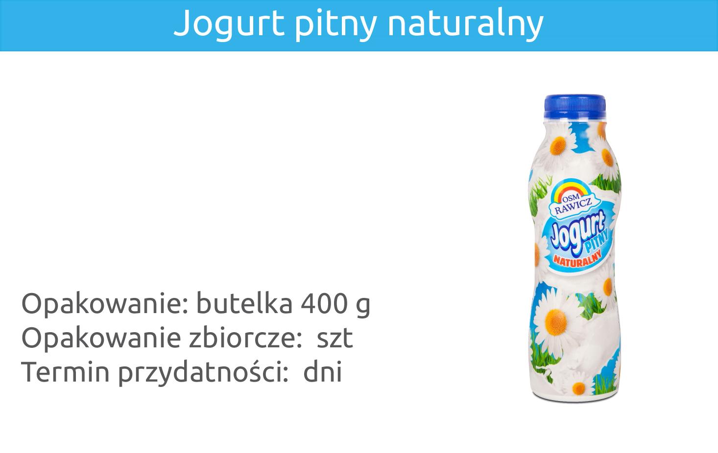Jogurt pitny naturalny