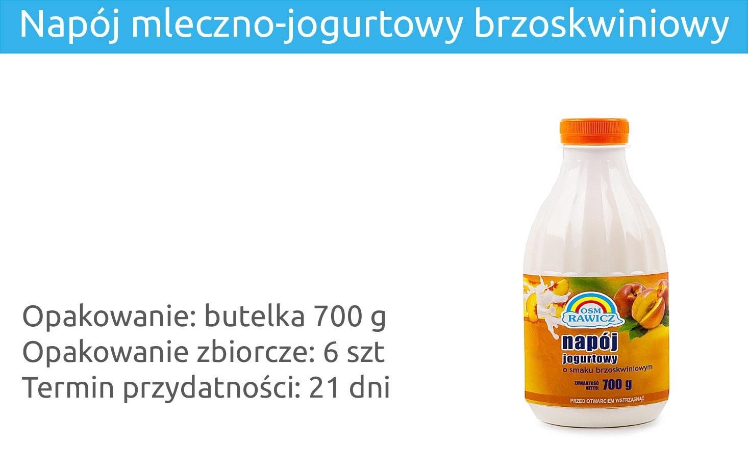 Napój mleczno-jogurtowy brzoskwiniowy