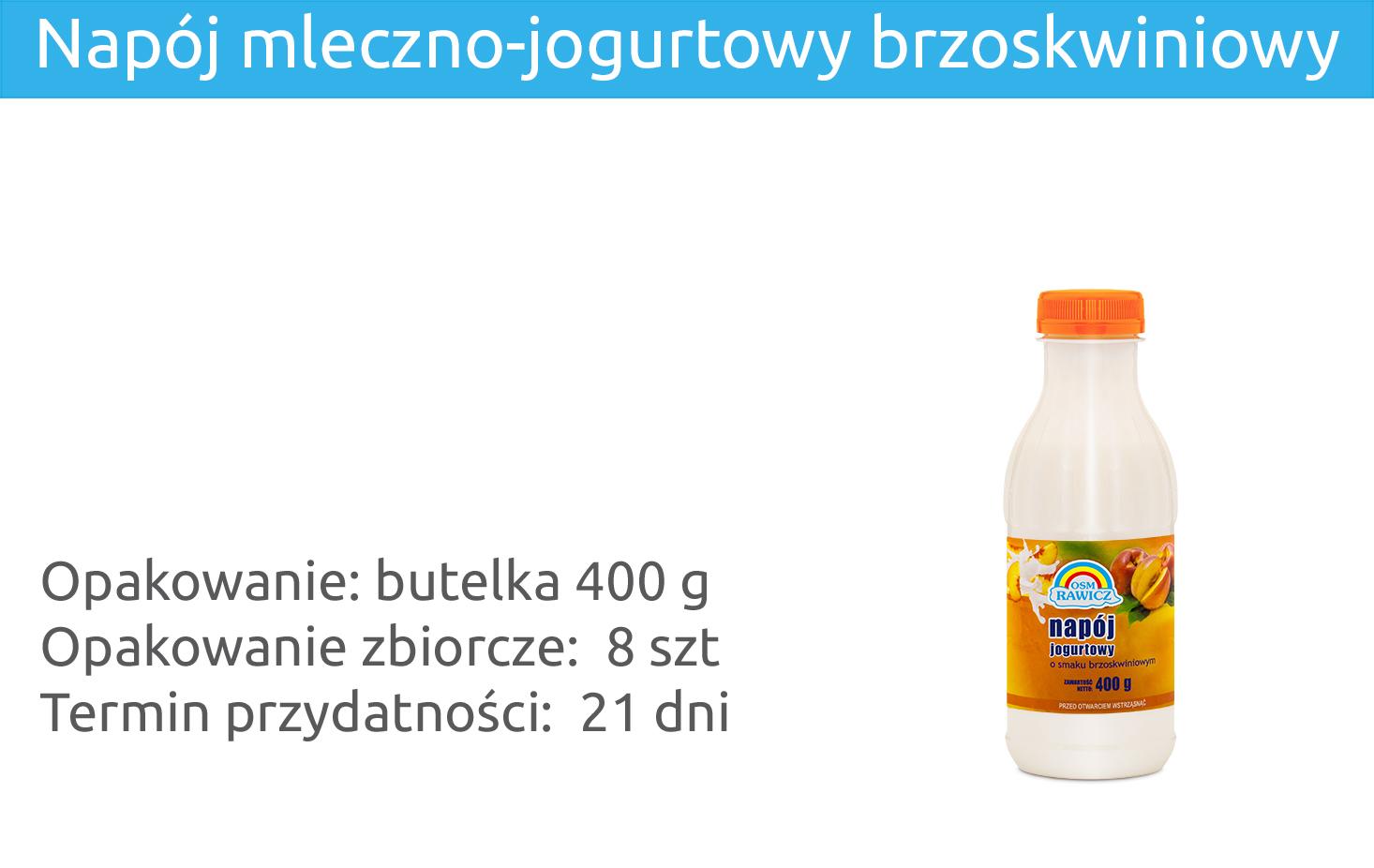 Napój mleczno-jogurtowy brzoskwiniowy 400g