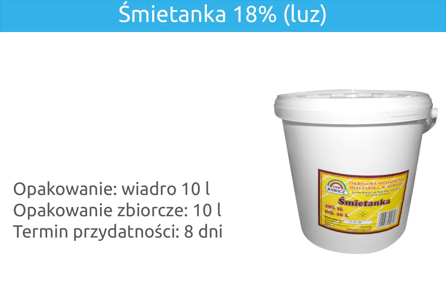 Śmietanka 18% (luz)