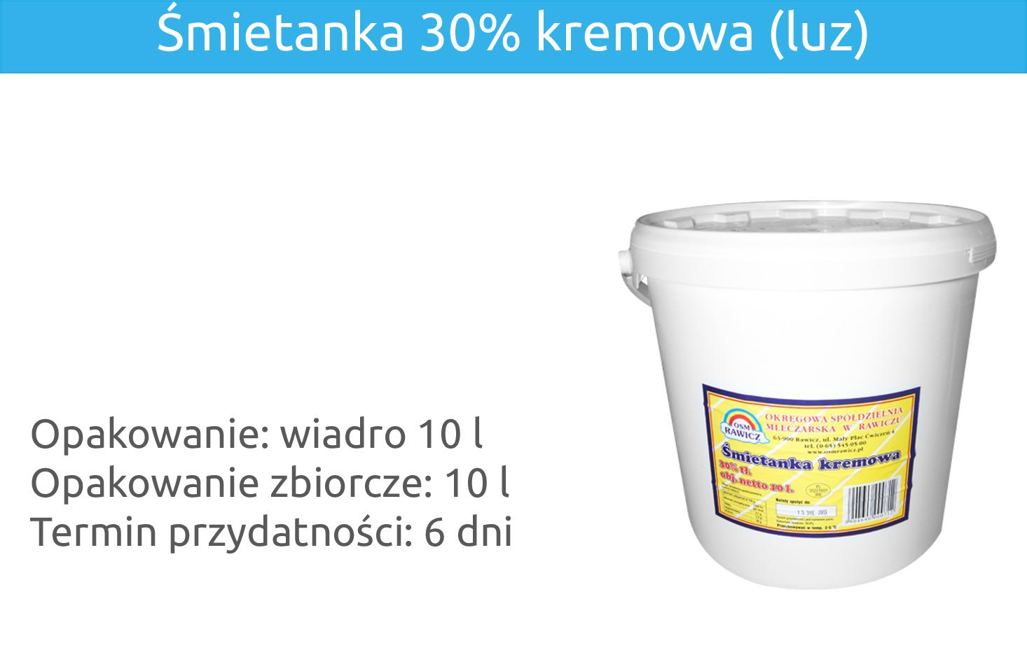 Śmietanka 30% kremowa (luz)